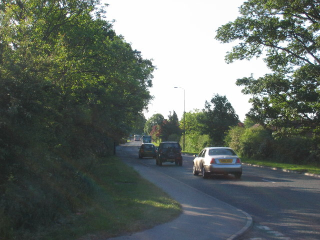 View down the A59 into York