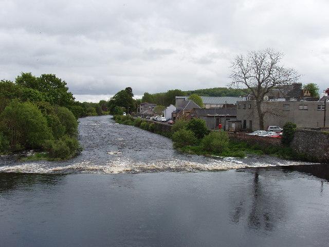 Weir on River Cree, Newton Stewart