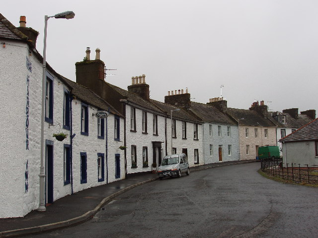 Seafront houses at Garlieston