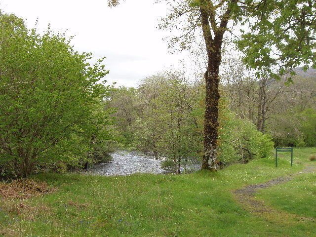 Water of Trool below Loch Trool, by Caldons camp site