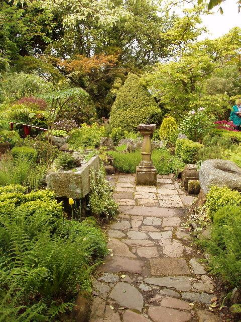 Garden of Broughton House, Kirkcudbright, home of artist E A Hornel