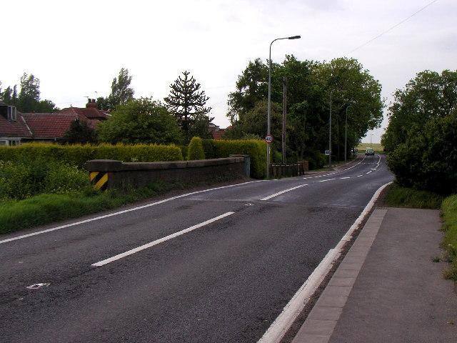 The road at Bridge Bungalows