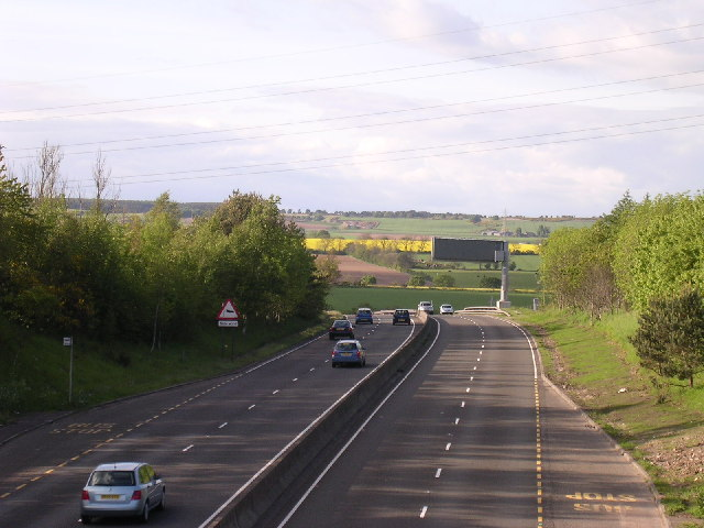 The A90 north of Dundee