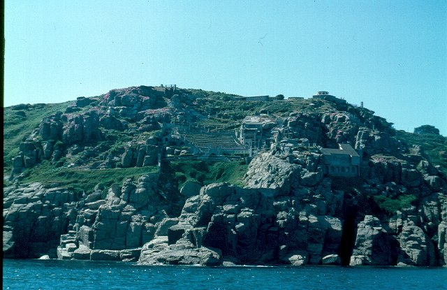 Minack Theatre from the sea