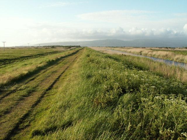 Leri embankment, Borth