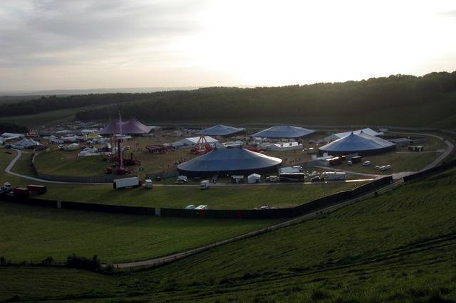 Homelands festival at the foot of Cheesefoot Head