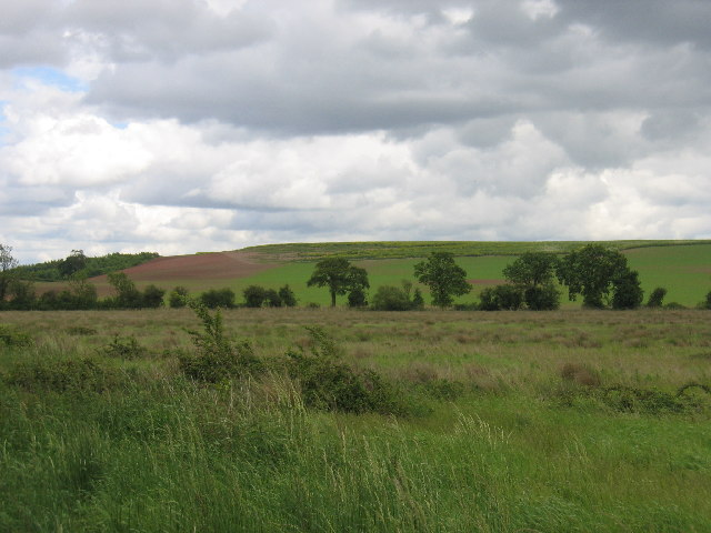 View from public footpath near Wolverton
