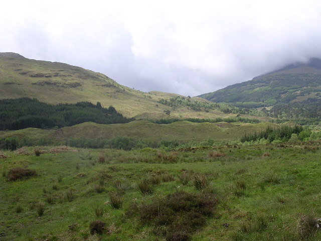Hummocky moraine near Tyndrum