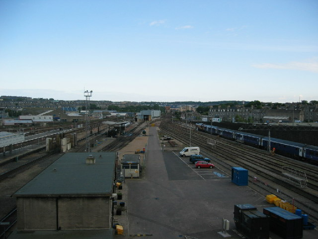 The sidings and railway lines Aberdeen railway station