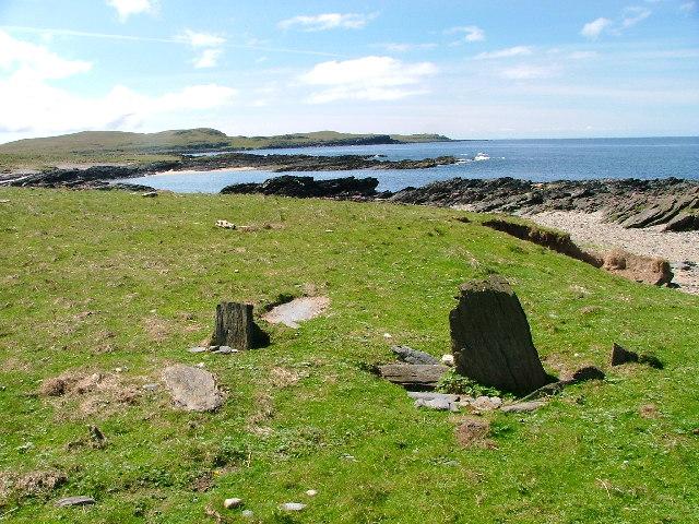 Gravestones Overlooking Traigh Fleisgein Bheag