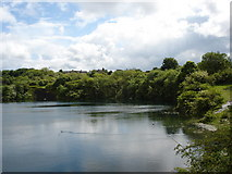 NT0875 : Flooded Quarry Winchburgh West Lothian by paul birrell
