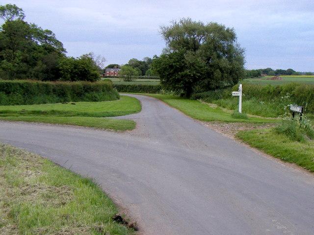 Road junction near Elstronwick.