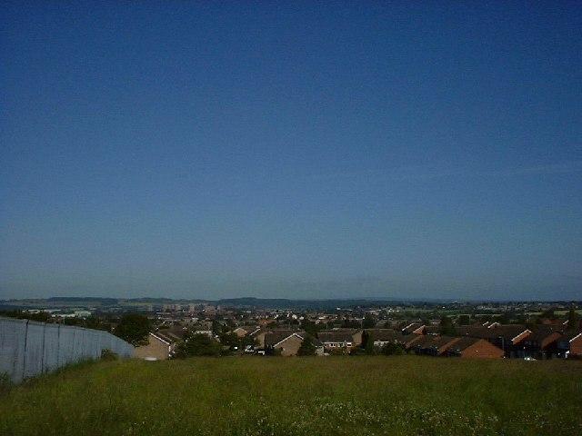 View of Tamworth from Amington Heath