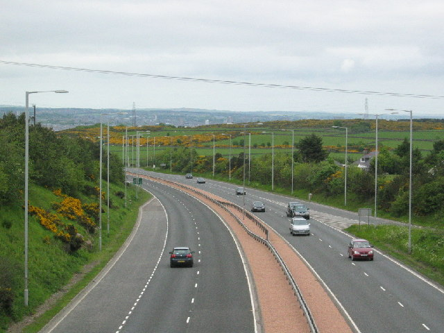 A90 from Charleston flyover