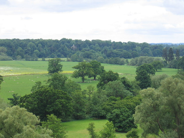 View towards Lodge Wood from Warwick Castle