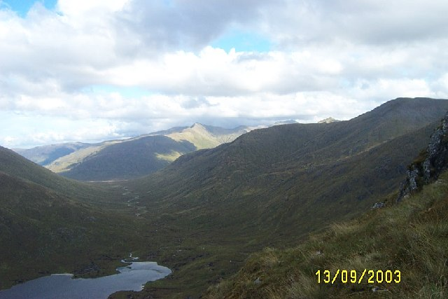 Looking east to Glen Affric from Bealach an Sgairne