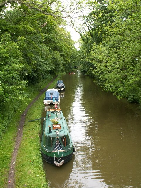 The Lancaster Canal from the Hand and Dagger