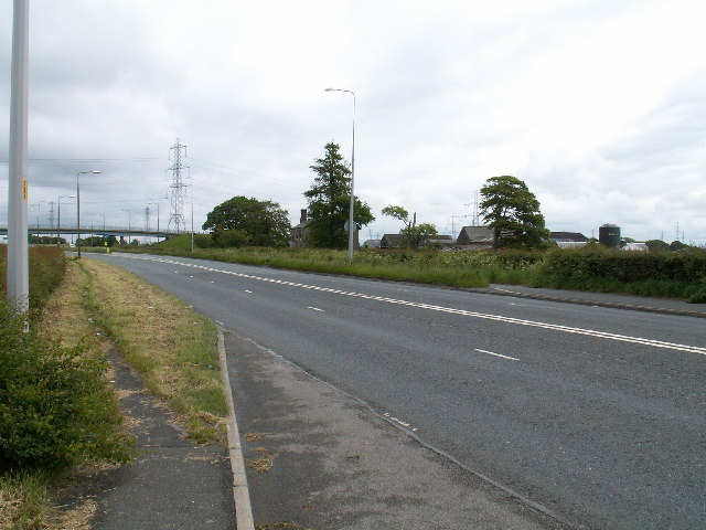 The A583 and Old Hall Farm