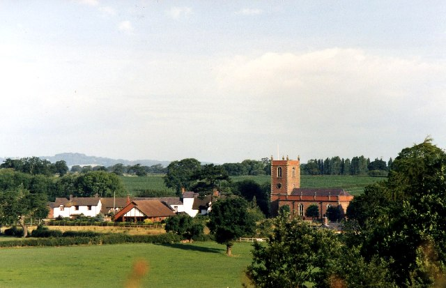 Church Minshull village from the Shropshire Union Middlewich Branch Canal
