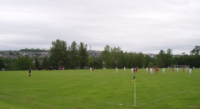 Junior Football pitch looking towards Tillydrone