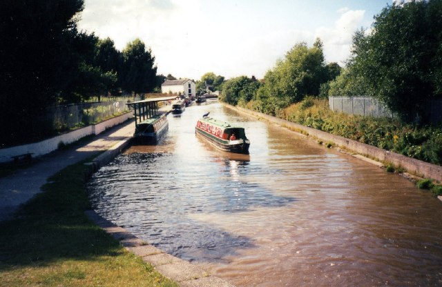 Below the bottom lock at Middlewich on the Trent and Mersey Canal