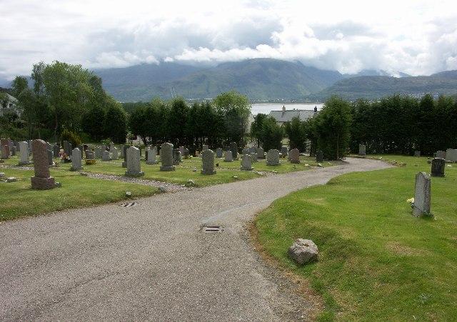 Ben Nevis from Kilmallie Cemetery in Corpach