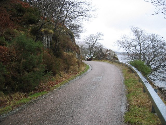 Remains of WWII Roadblock near Camusnagaul