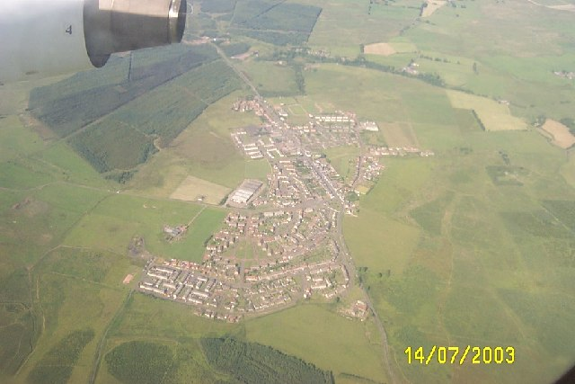 Aerial view of Forth, South Lanarkshire