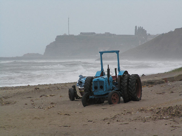 Fishermen's tractor at Sandsend