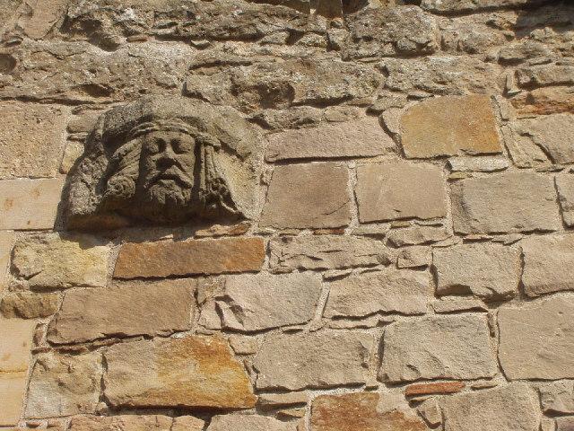 Spynie Palace - stone face