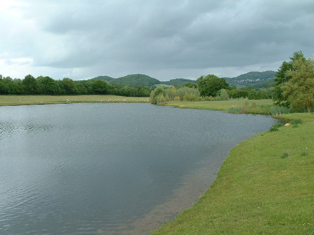 Sandpit ponds looking towards West Malvern