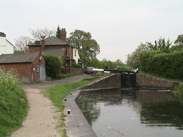 Lock on the Birmingham and Fazeley Canal