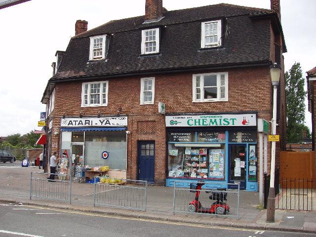 Shops near West Acton Underground station