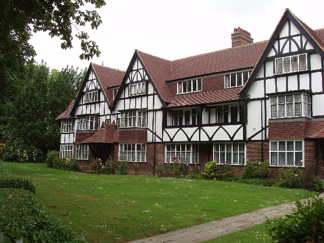 Apartments built in West Acton in 1930s in half-timbered style