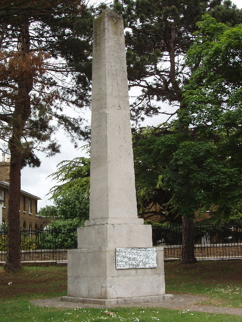 Monument in Acton Park to James Radcliffe, Earl of Derwentwater