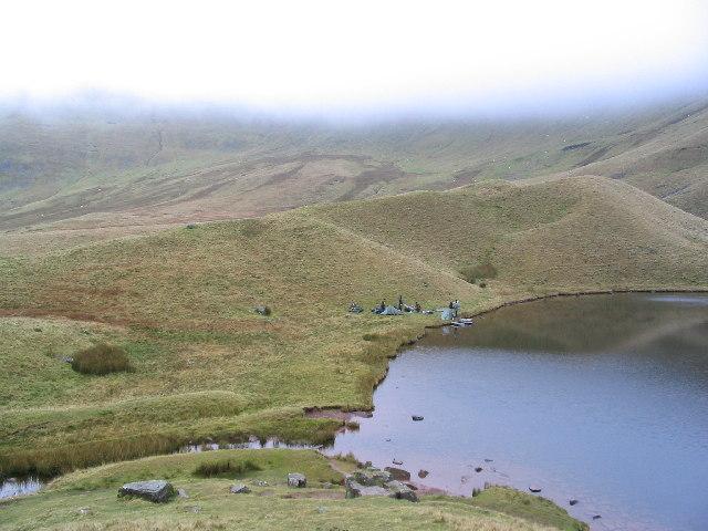 Wild camping at Llyn Cwm Llwch