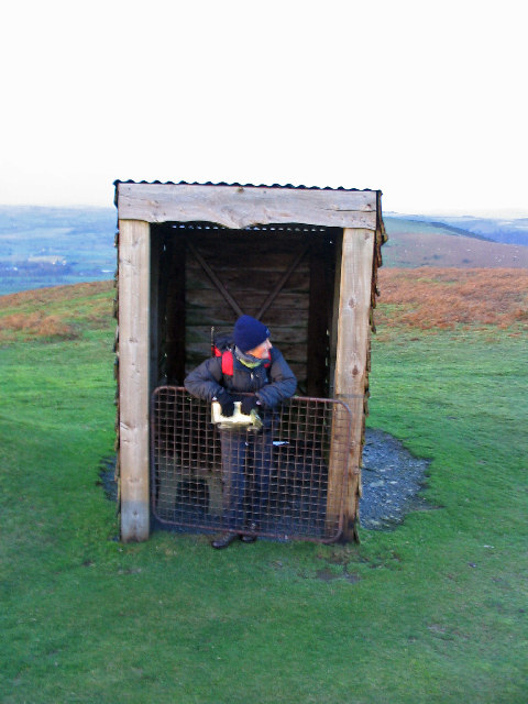 Shelter for golfers on Bradnor Hill