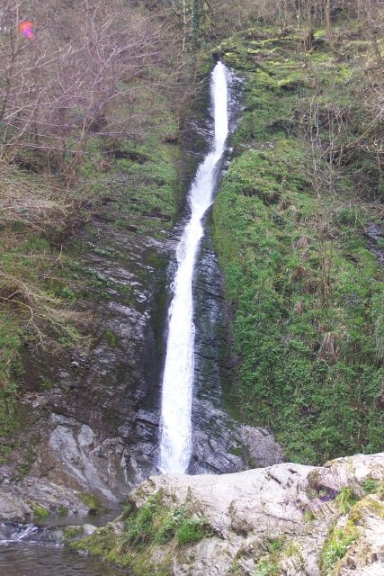 White Lady Falls in Lydford Gorge