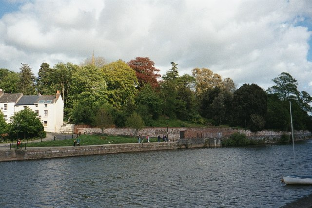 "River Exe and grounds of ""Larkbeare"""