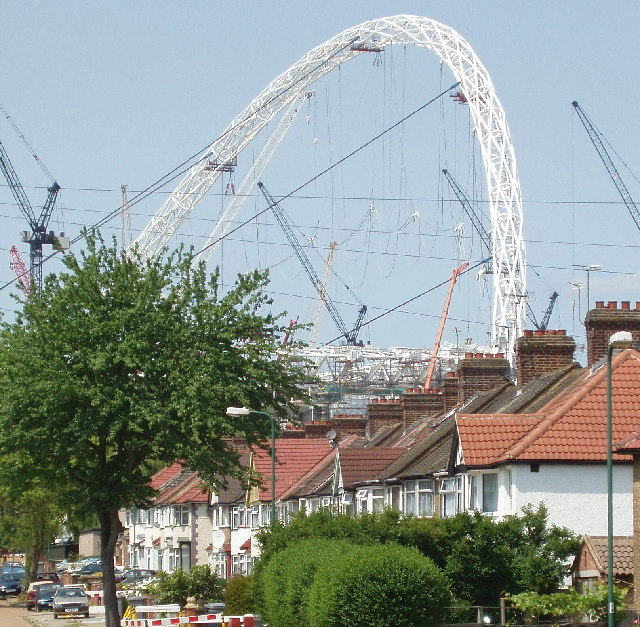 Grove Way, Tokyngton,  with Wembley Arch behind