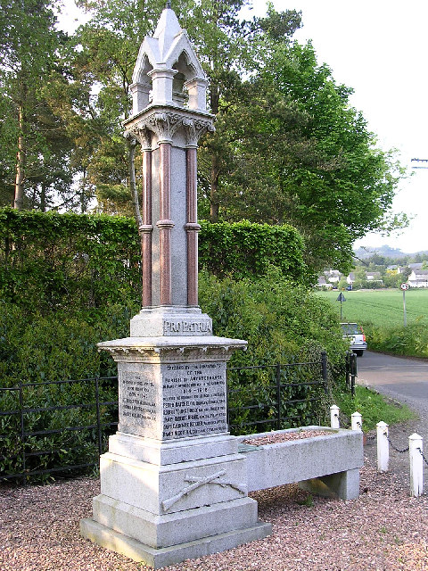 First World War memorial in Kirkton of Auchterhouse
