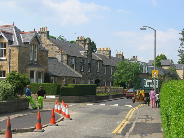 Building speed humps, Corstorphine.