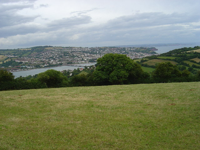 View of Teignmouth from The Beacon