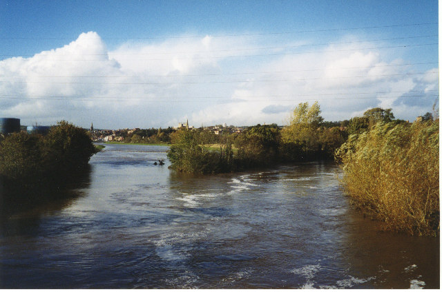 River Exe in flood
