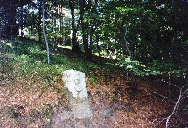 Milestone on Templer Way (Granite Railway)