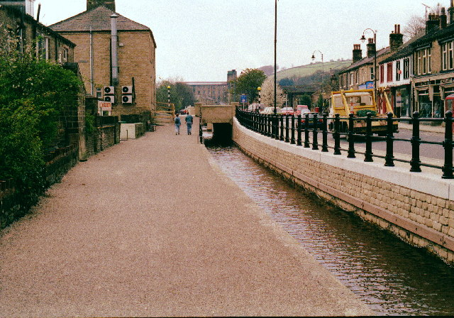 The Huddersfield Narrow Canal at Slaithwaite