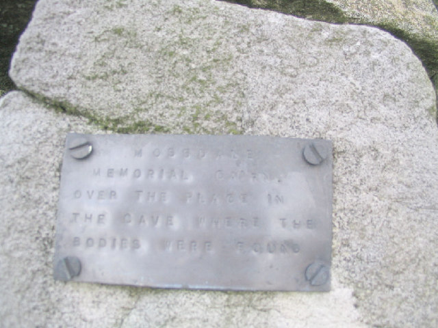 Mossdale Memorial Plaque