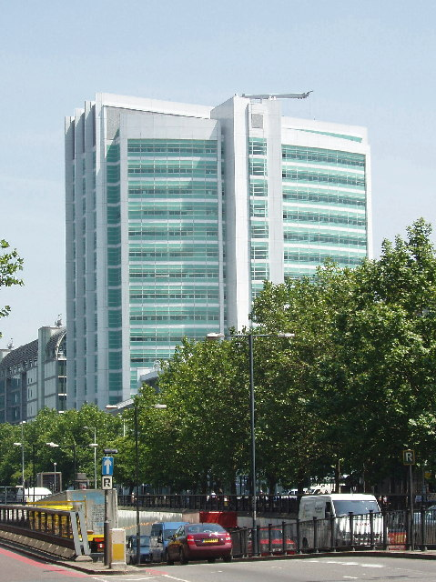 University College Hospital, new building by Euston Road