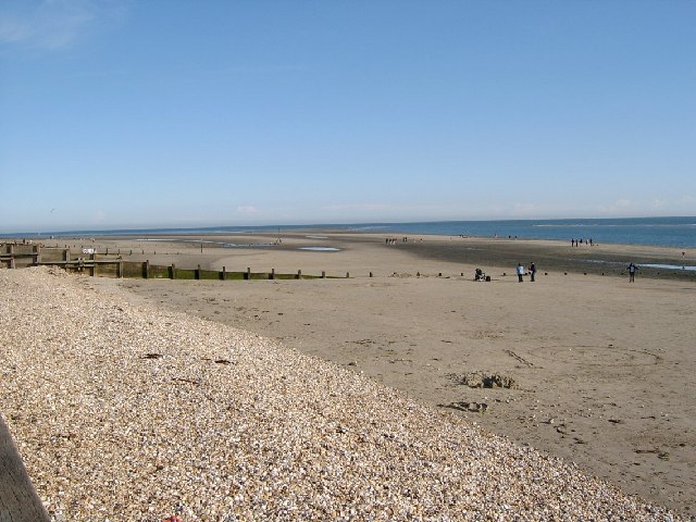 Looking south east along West Wittering beach