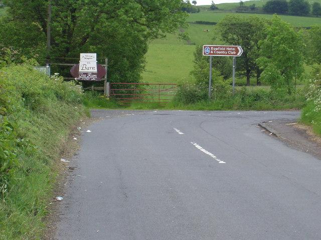 Road junction near Howwood